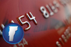 vermont a credit card macro photo