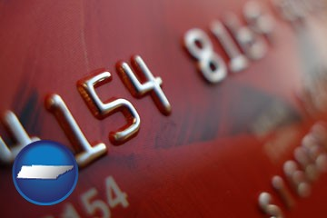 a credit card macro photo - with Tennessee icon